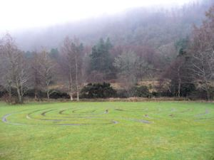 Modern Labyrinth at Glendalough
